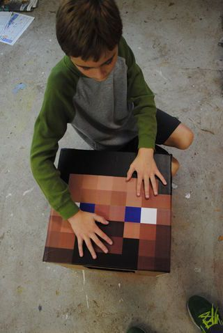 DIY Minecraft Costumes - Make your own minecraft costume for Halloween.