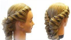 плетение косичек на длинные волосы. ажурные косы - YouTube