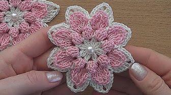 Crochet flower Tutorial #crochet #crochetflower #ravelry NotikaLand crochet and knitting - YouTube