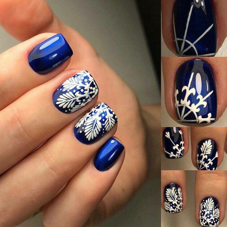 Blue Christmas Nail Art: 25+ Trending Dark Blue Nails Ideas On Pinterest