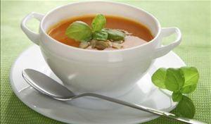 Sopa de Tomate com manjericão!!