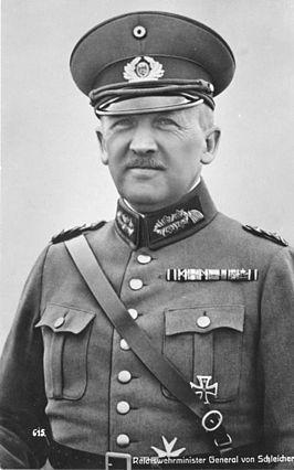 Kurt von Schleicher, rijkskanselier 1932 en 1933.