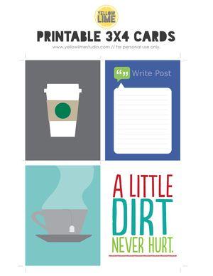 FREE Printable fromYellow Lime Studio.  #ProjectLife #Scrapbooking #Coffee #Tea #Facebook