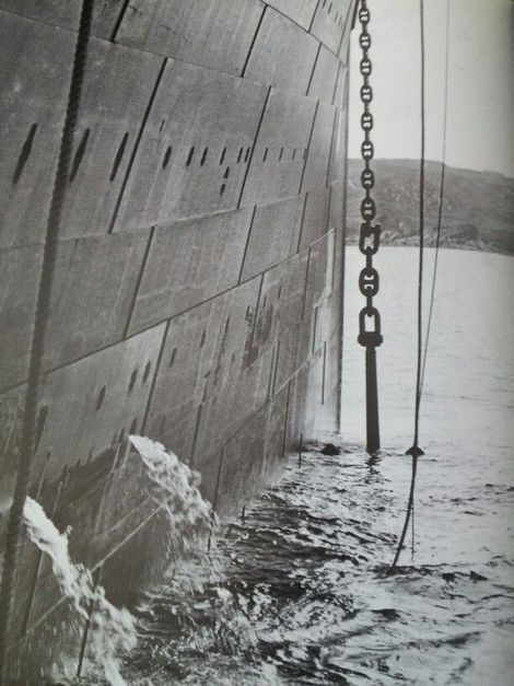 Unknown, The Titanic's Anchor Being Raised for the Last Time - Queenstown, Ireland - April 1912 on ArtStack #unknown #art
