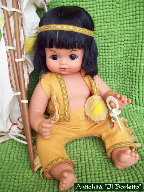 Bambola Furga Winnetou cicciobello indiano, anno '70