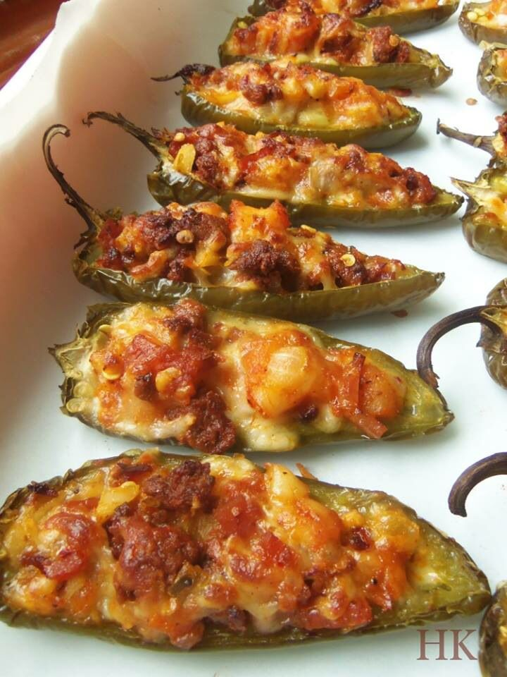 Jalapeño stuffed with cheese ,bacon