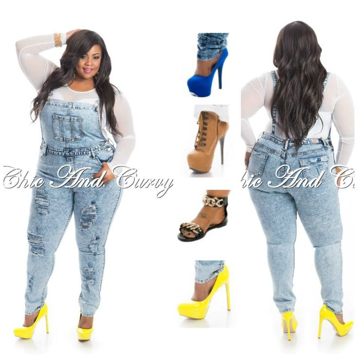 Dress up casual overalls with your top and shoe selection ...