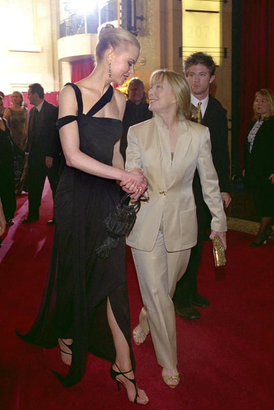 """Nicole Kidman and Sissy Spacek - 2003  At 5'11"""" (without heels!), Nicole Kidman was already a head taller than the petite Sissy Spacek, but the two looked chummy backstage in 2003. Six-time nominee (and 1981 Best Actress winner) Spacek was there to participate in the 75th Past Oscar Winners reunion, and she congratulated Kidman on winning Best Actress for her work in """"The Hours."""" (Photo courtesy AMPAS)"""