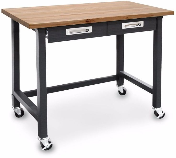 Commercial Heavy-Duty Wheeled Workbench With Drawers #workbench
