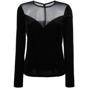 Lanvin mesh panel blouse