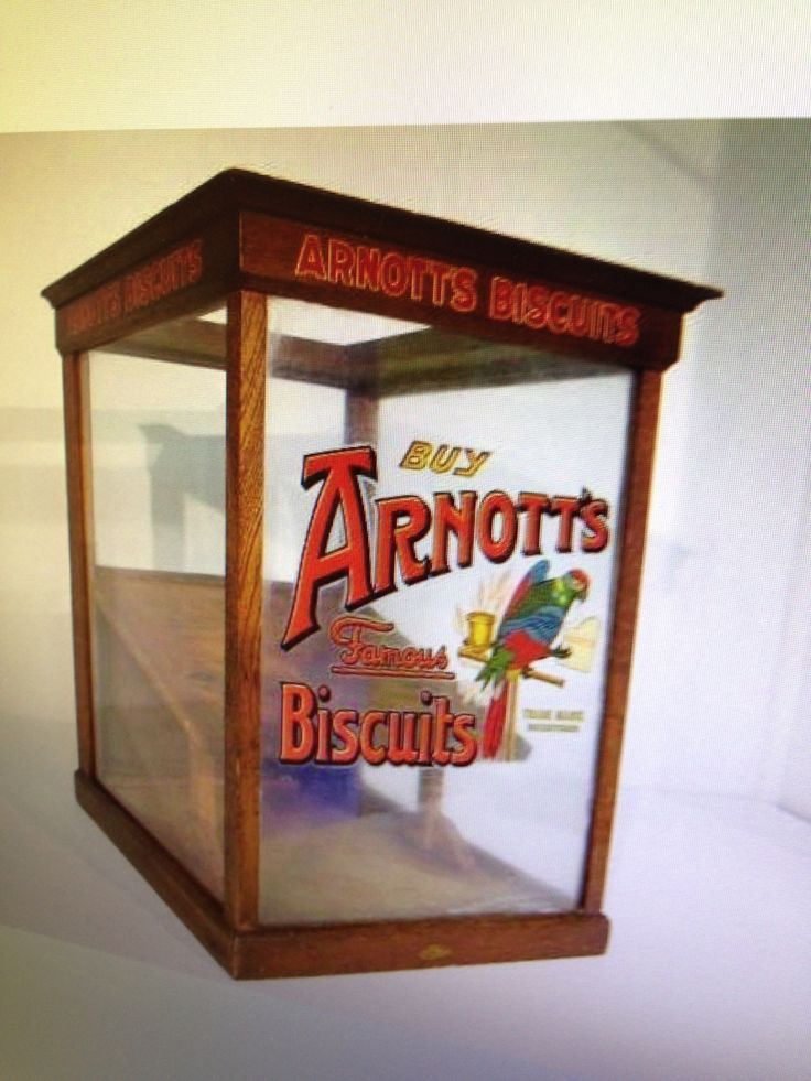 Original 1920's ARNOTT'S Biscuits display cabinet from Homebush Factory