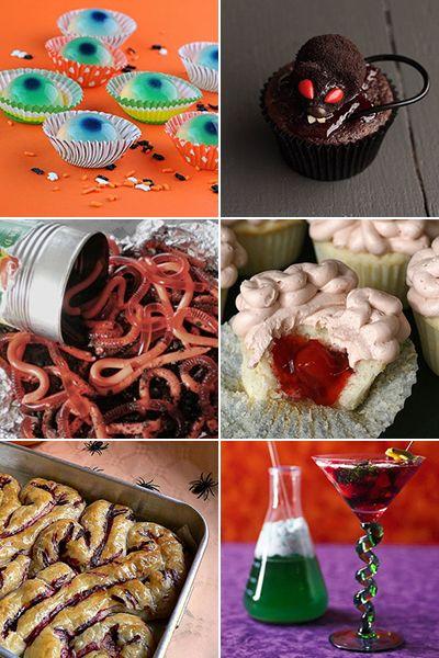 "Creepy Halloween foods for a ""Spooky gross food night!"""