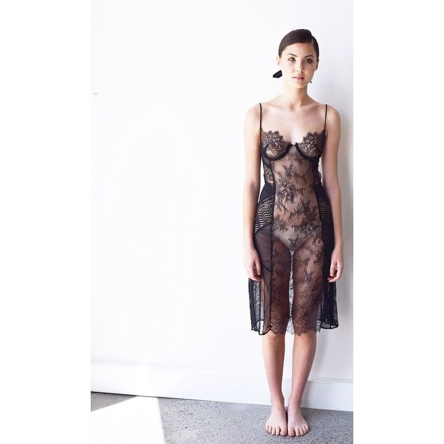 Jess wears the black panelled lace slip. So much work went into this one, and it was so much fun to make! #intimateapparel #intimates #black #lace #slip #dress #french #underwear #sleepwear #fashion #model #design #hideandseek #hideandseekintimates #apparel #create #sew #make #sydney