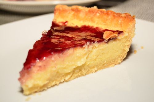 Buttermilk Pie with Blackberry Jam(Vaniliás-lekváros pite)