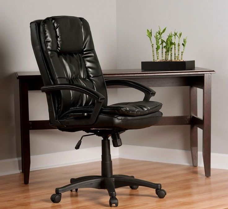 Executive Office Massage With Wheels Arms Leather