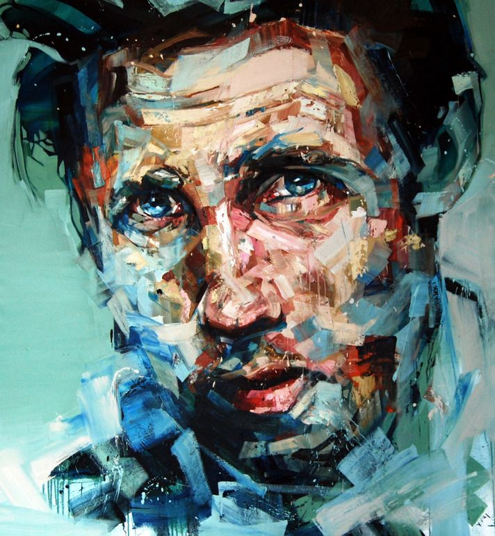"Andrew Salgado; Oil, 2012, Painting ""The Conversation"""