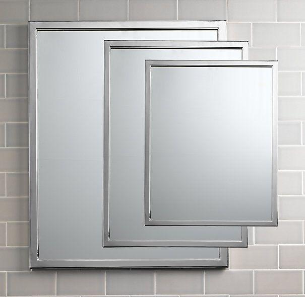 Master Bath Option 4 | Restoration Hardware Classic Wall Mirror Polished Chrome, many sizes