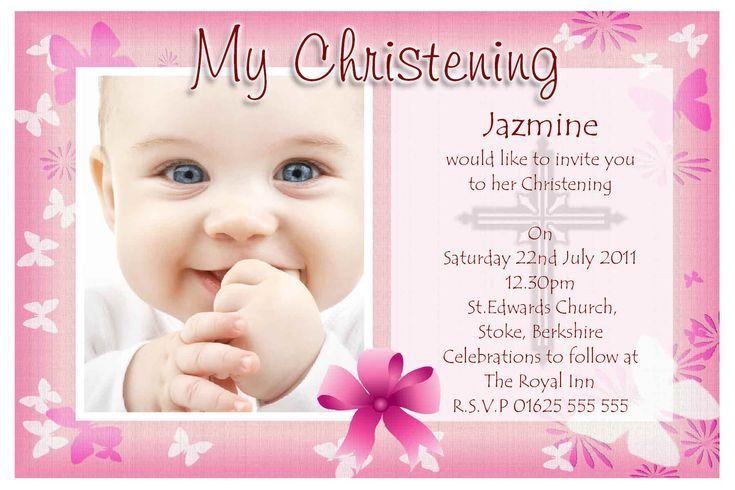 Baby Christening Invitation Templates | Stuff to Buy | Pinterest ...