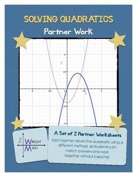 Solving Quadratic Equations Partner Practice Algebra I