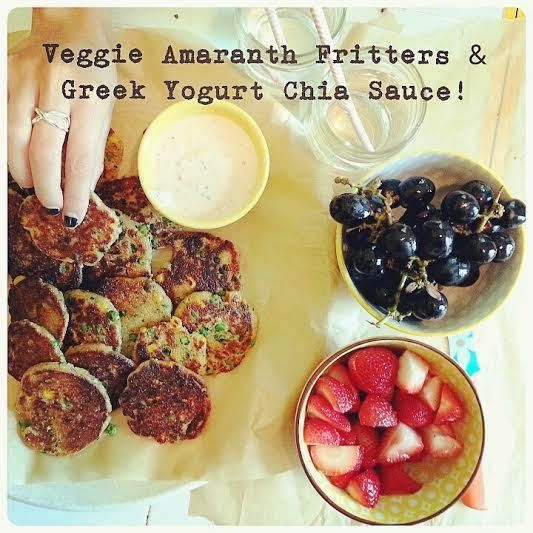 little island studios: Veggie Amaranth Fritters & Greek Yogurt Chia Sauce! #sponAmaranth Fritters, Fritters Amp, Yogurt Chia, Food, Veggies Amaranth, Islands Studios, Fritters Greek, Greek Yogurt, Chia Sauces