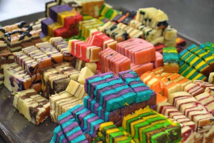 aha! Sarawak, Malaysia special cake called Cake lapis. complicated method but yet very delicious! comes with variety of colours and arrangement of the colours!