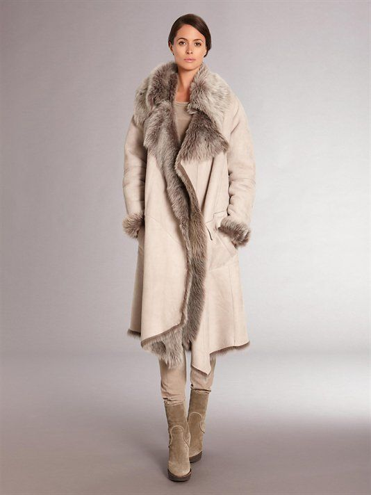 Donna Karan Fall 2011 Casual Shearling Coat, reversible. Style # E31C424LC9. Totally stunning!