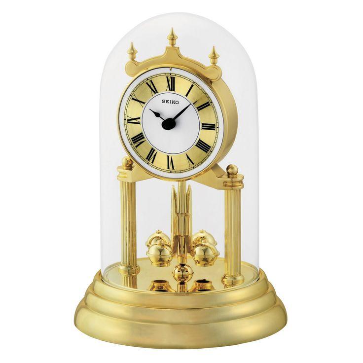 Seiko QHN006GLH Anniversary Clock - Gold Tone - QHN006GLH
