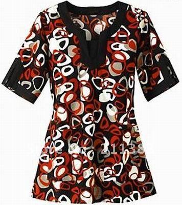 Free Scrub Shirt Pattern | slim pattern fabric nurse uniform hospital uniform medical scrubs tops ...