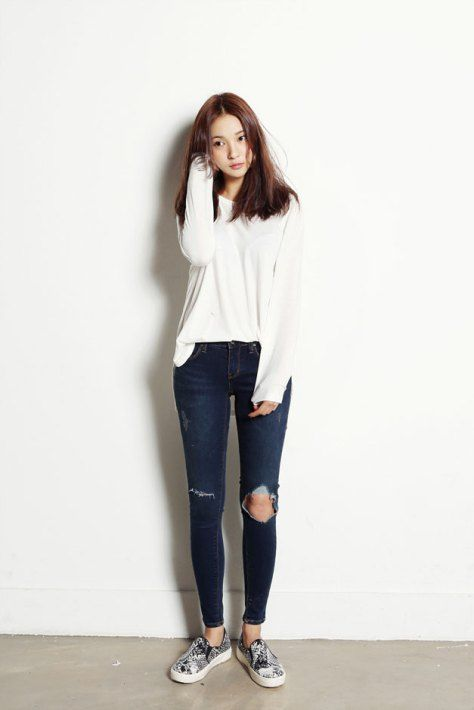 528347e5f89e casual teenage girl outfits fashion 2017 - Styles Art