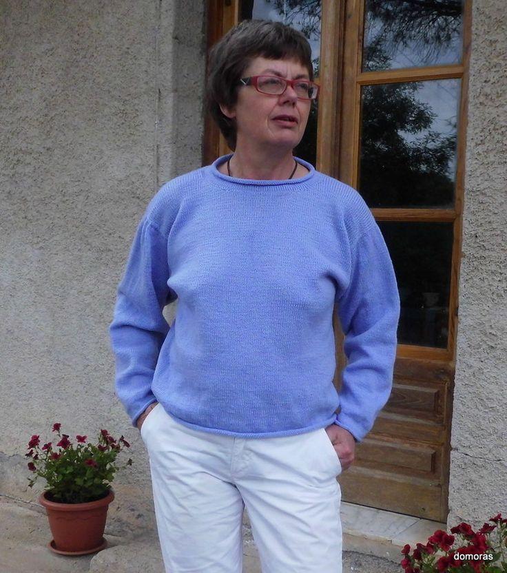 TORRETTA LANA, una maglia artigianale di lana leggera, tg. small/medium (S/M)
