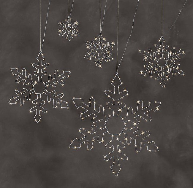 Starry Light Snowflakes - Silver