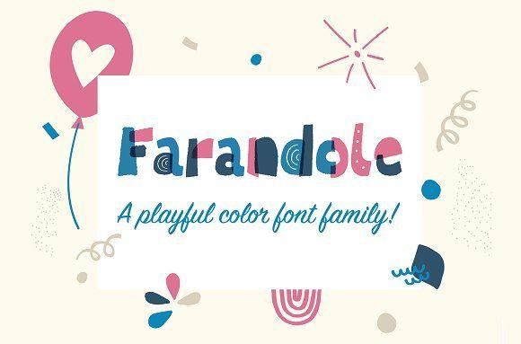 Farandole Layered Color Font Free Cursive Fonts Typography Logo Fonts Lettering