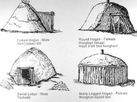 US SOUTHWEST Diné(Navajo) Architecture: forked hogan