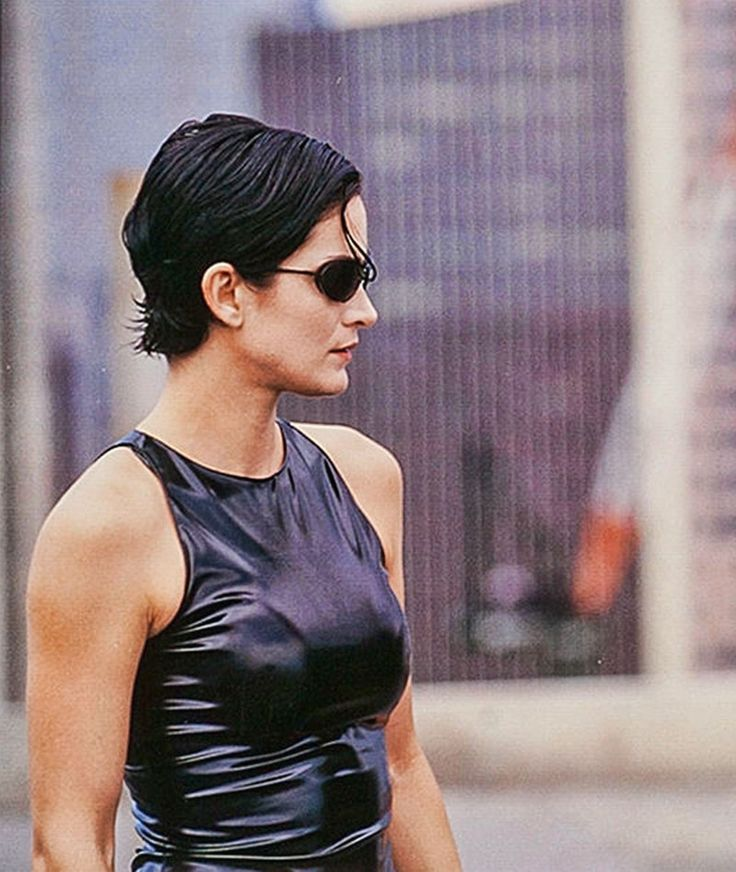 "Carrie Anne Moss en ""Matrix"", 1999 