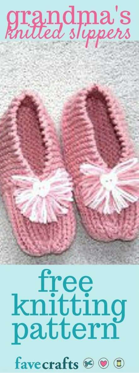 22 Ideas for knitting slippers for beginners free pattern ...