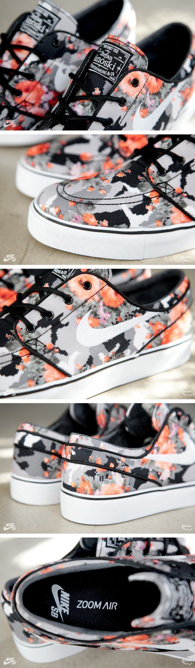 "Nike Skateboarding is now on its third take with the Janoski in a ""floral camo"" print. The third edition features..."