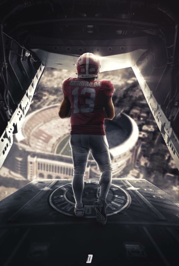 Tua Tagovailoa Alabama Crimson Tide Football Alabama Crimson Tide Football Wallpaper Alabama Crimson Tide