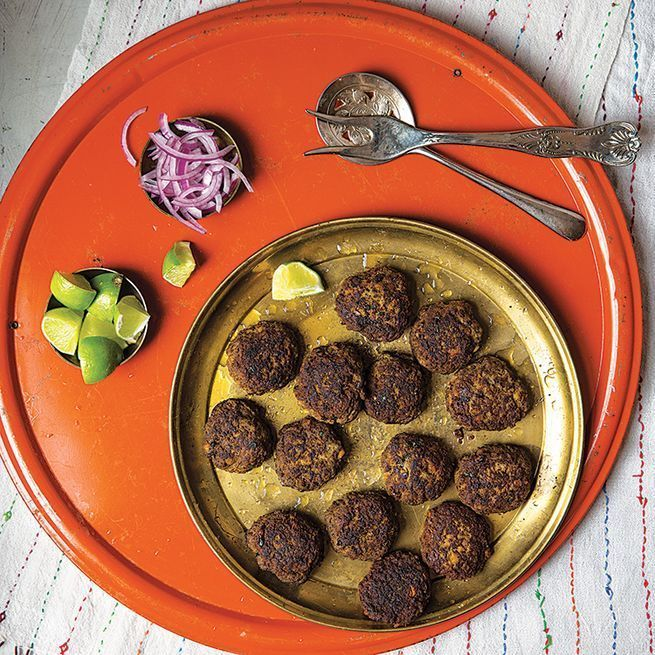 Ground beef is stuffed with a spiced onion mixture and then fried until crisp and savory in this favorite street food of Muslim Indians.