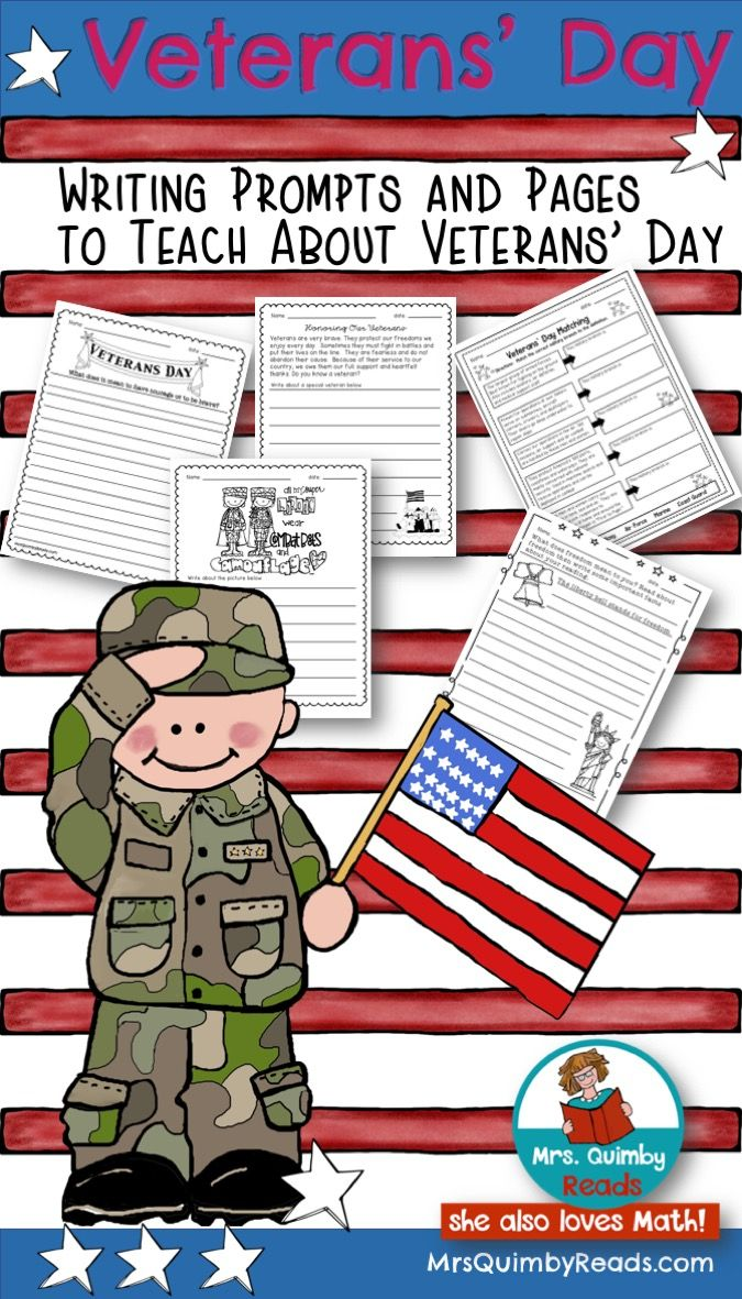Veterans Day Writing Prompts Honor Our Heroes Writing Prompts Veterans Day Math Literacy Activities