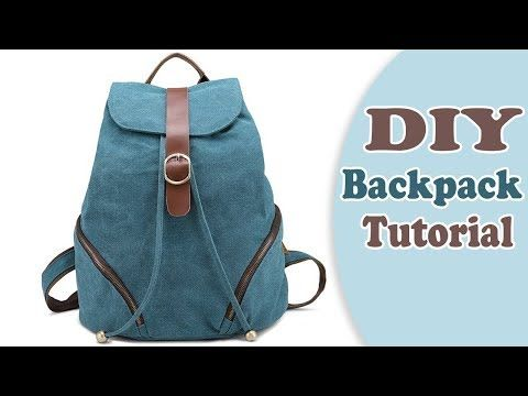 DIY ADORABLE BACKPACK TUTORIAL FROM SCRATCH    New Design Easy Way !! -  YouTube 4be3a5eff40a4
