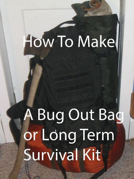 Picture of How To Make A Bug Out Bag (B.O.B.) or Long Term Survival Kit