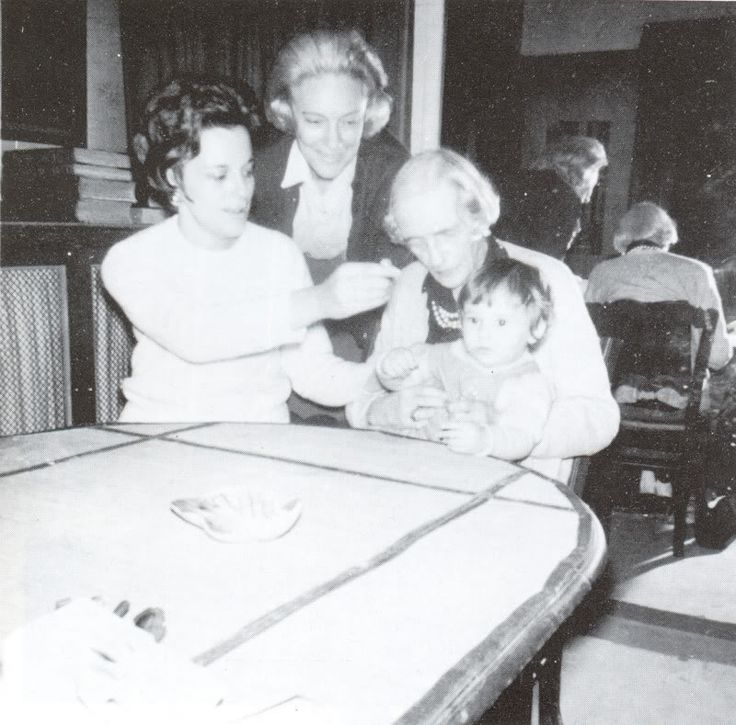Four generations. Left to Right: Xenia Sfiris, Irina Felixovna Sheremeteva nee Yusupova, Princess Irina Yusupova holding her great-granddaughter Tatiana Sfiris