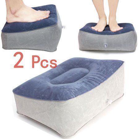Grtsunsea 2x Inflatable Travel Leg Up Feet Foot Rest