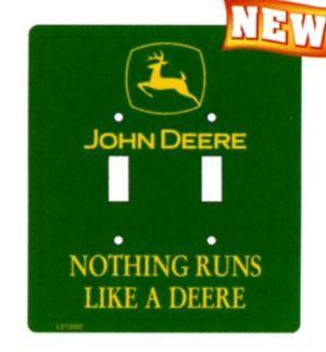 Double John Deere Lightswitch Plate and more john deere merchandise