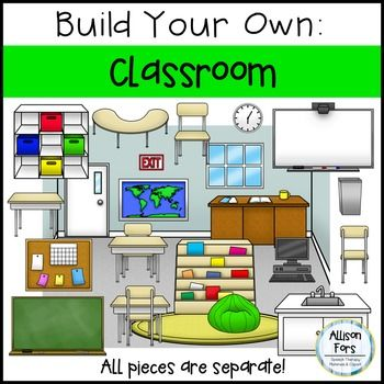 Build Your Own Classroom! Create your own scenes - This versatile set of classroom images allows you to create exactly what you need! All images are separate. Use for story setting, vocab, basic concepts, and more.