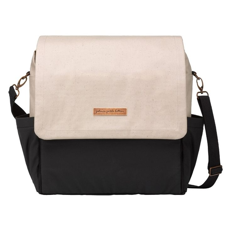 Petunia Pickle Bottom Boxy Backpack - Birch & Black | Trendy Diaper Bags for Fashionable Moms!