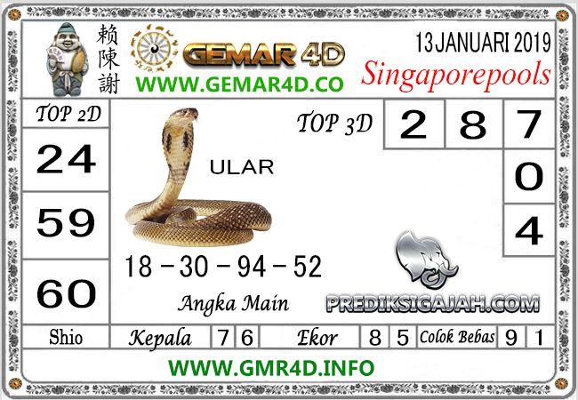 Prediksi GEMAR4D Prediksi Togel SGP MINGGU 13 Jan 2019 #gemar4d