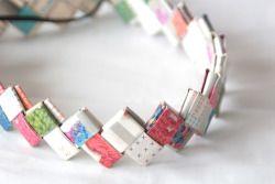 cintillo trenzado de papel