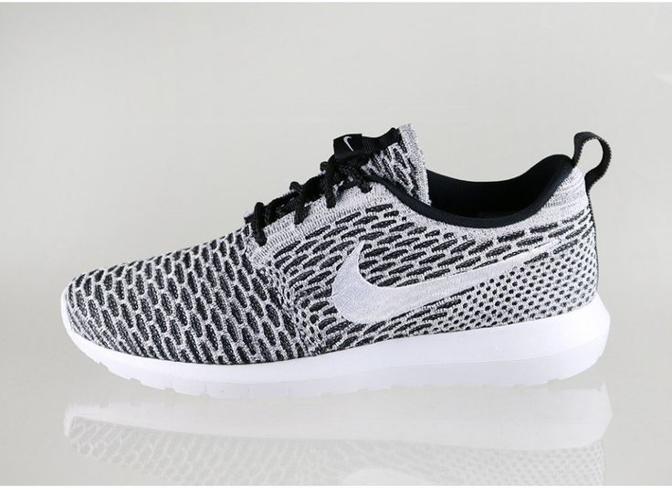 Nike Flyknit Roshe Run (Black / White - Dark Grey)