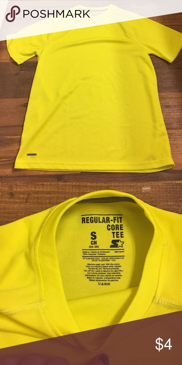 Workout Tshirt Bright yellow short sleeved workout Tshirt. Men's cut. Worn once. Tops Tees - Short Sleeve